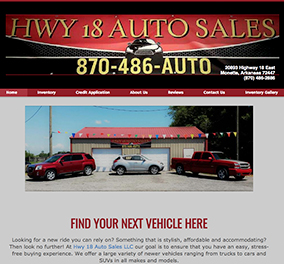 hwy 18 auto sale website