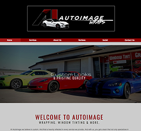 Auto image wraps website