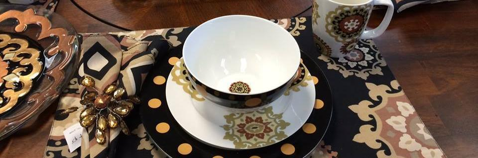 Our selection of fine and unique dinnerware, placemats and more will make a statement on your dinner table!