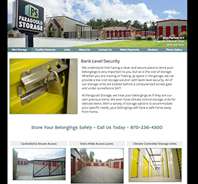 Paragould Storage used as Website example