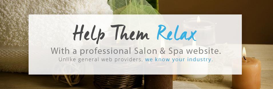 professional salon & spa website image