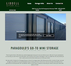 Liddell Storall used as Website example